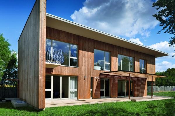 Maison moderne en bois, maison BBC  Maison moderneMaison moderne ~ Parasites Du Bois Maison