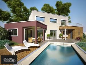 Maison design, caractéristiques maison contemporaine, maison RT 2012
