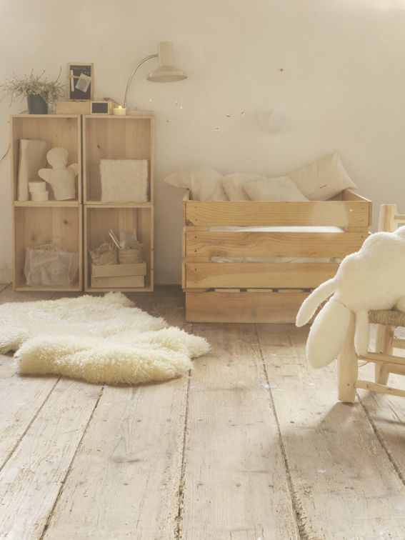 Lit Bebe Bois Palette : Natural Baby Nursery