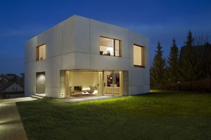 maison cube beton