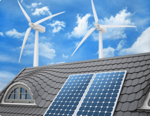 Les énergies solaire et éolienne
